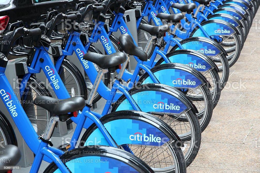 Bike rental in New York stock photo