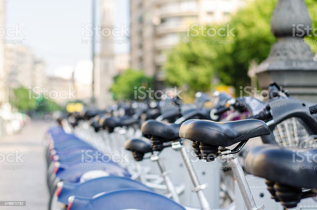 Alquiler bicicletas stock photo
