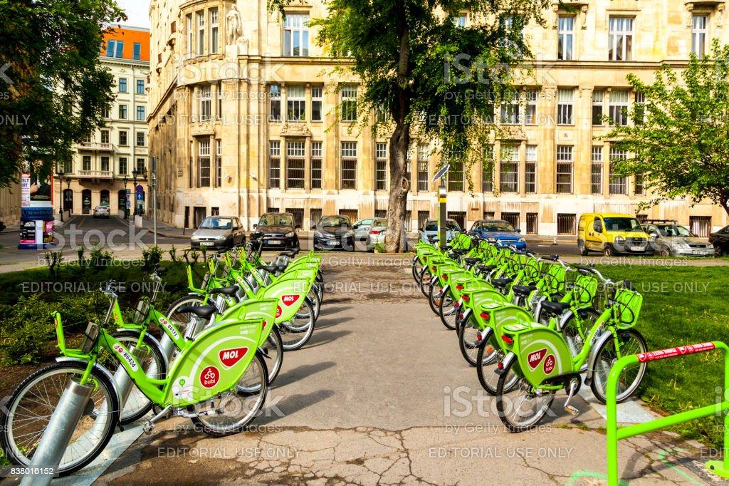 Bike Rental Service  -  Budapest stock photo
