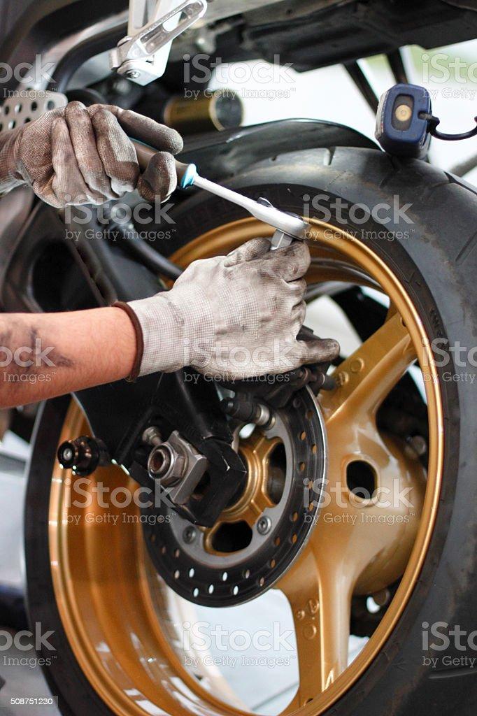 Bike repair stock photo
