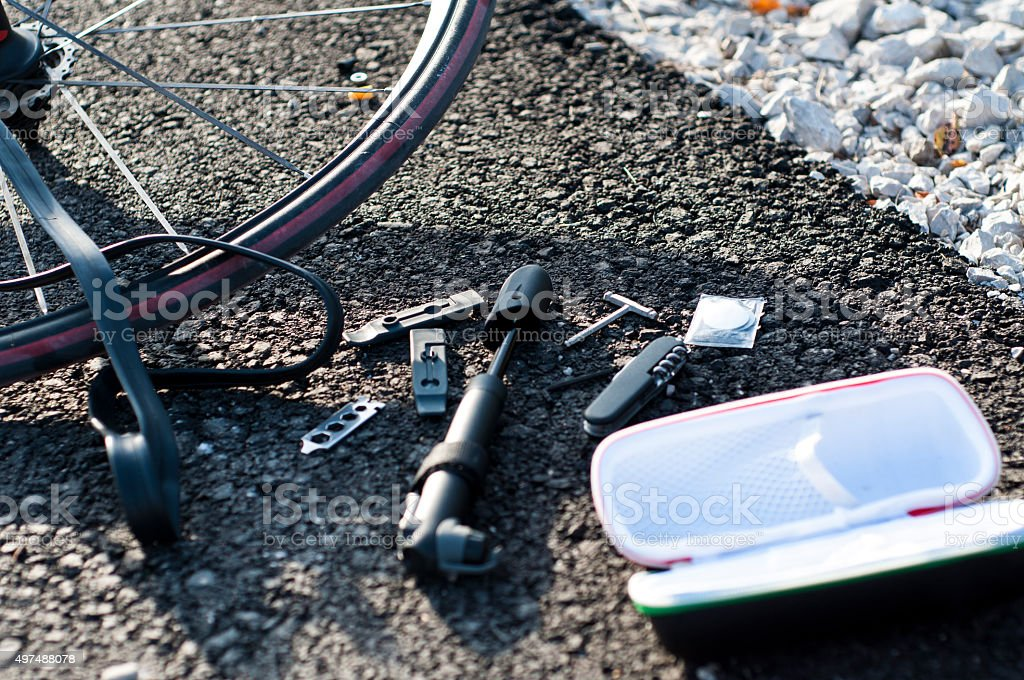 Bike repair set stock photo