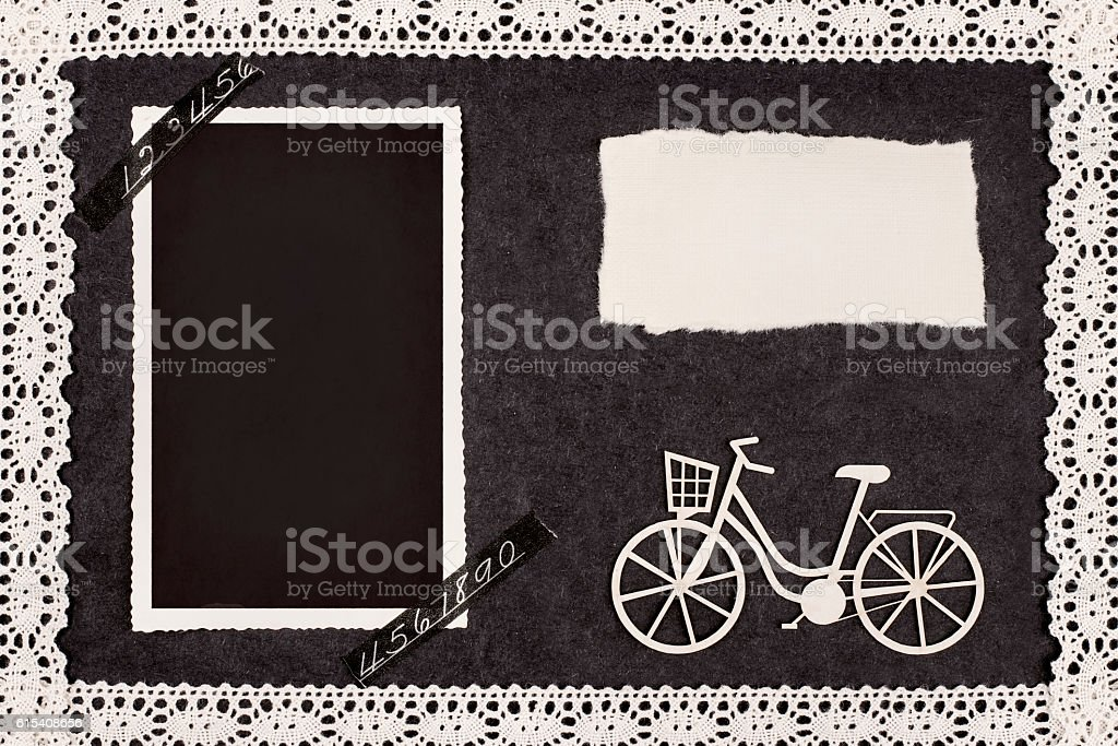 Bike retro album stock photo
