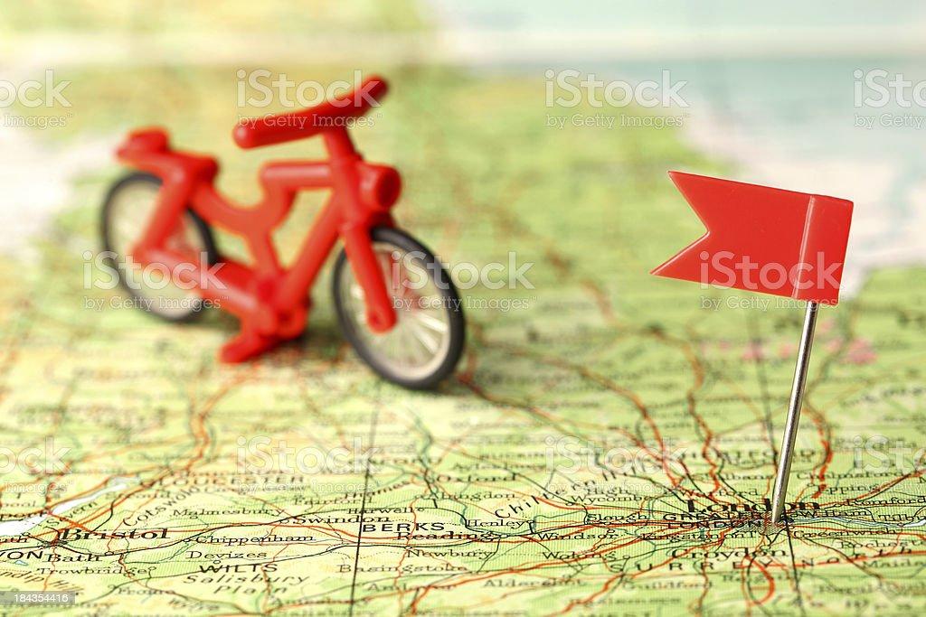 Bike ride destination royalty-free stock photo