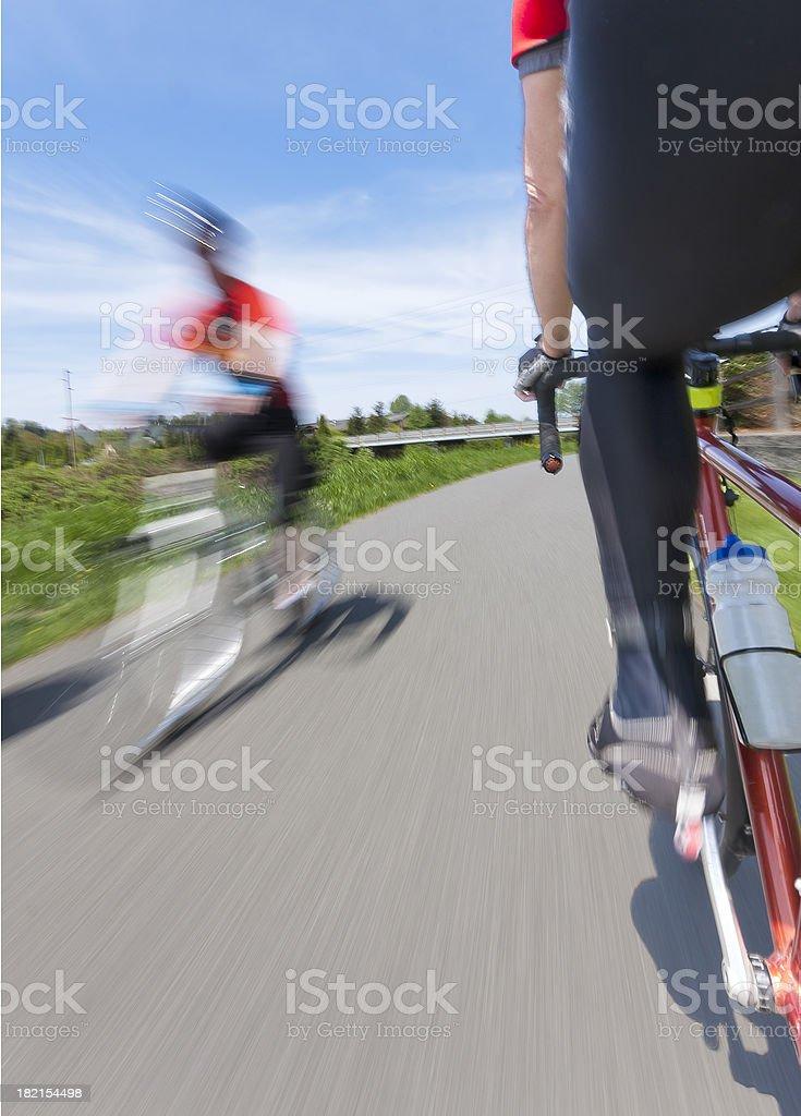 Bike Ride on a Beautiful Day royalty-free stock photo