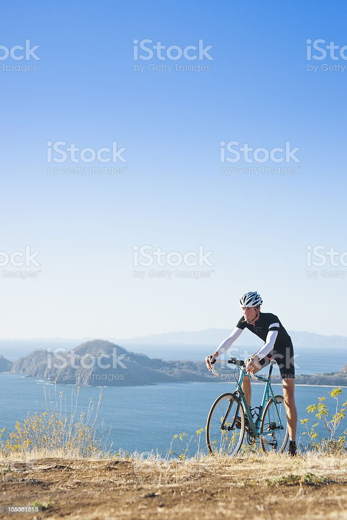 Bike ride with a view royalty-free stock photo