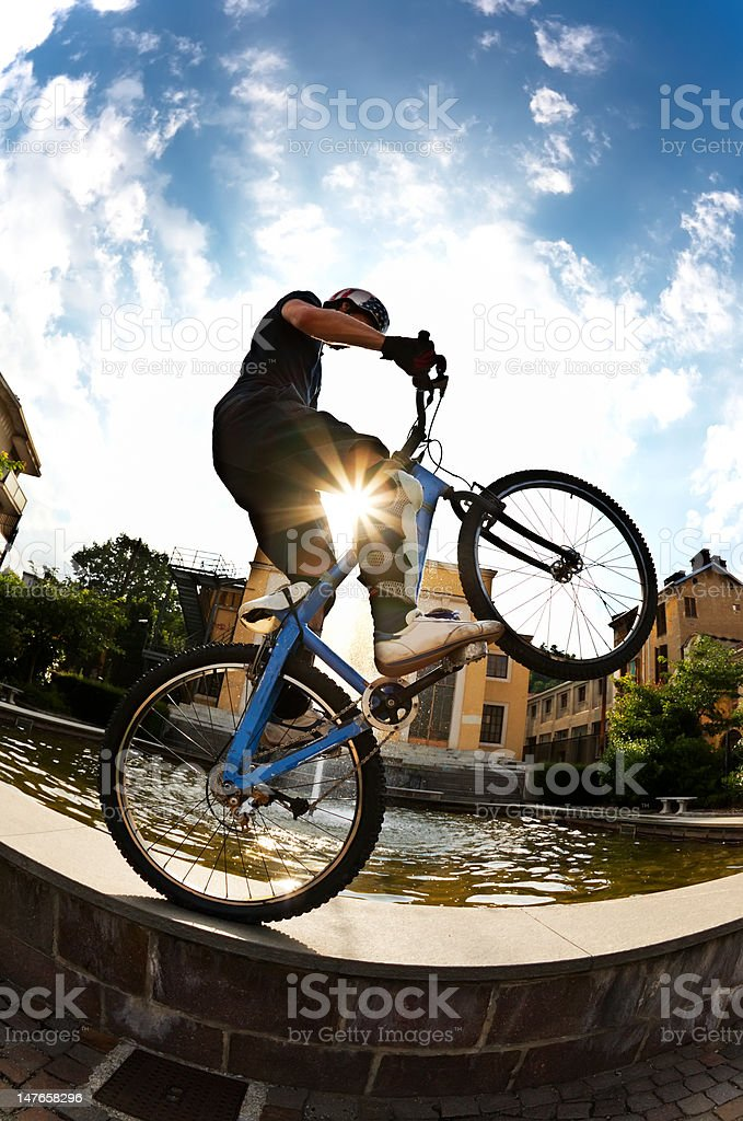 bike rider royalty-free stock photo