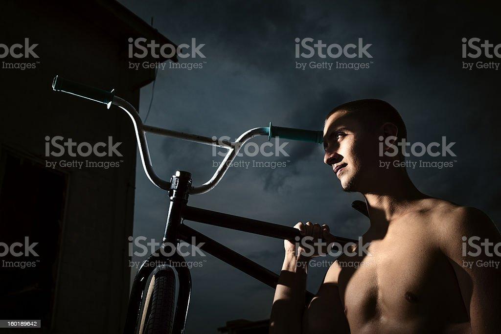 BMX Bike Rider Portrait royalty-free stock photo