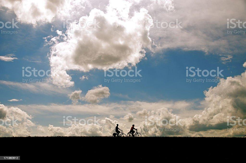 Bike Riders royalty-free stock photo