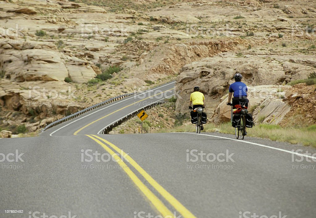 Bike Riders, Utah royalty-free stock photo