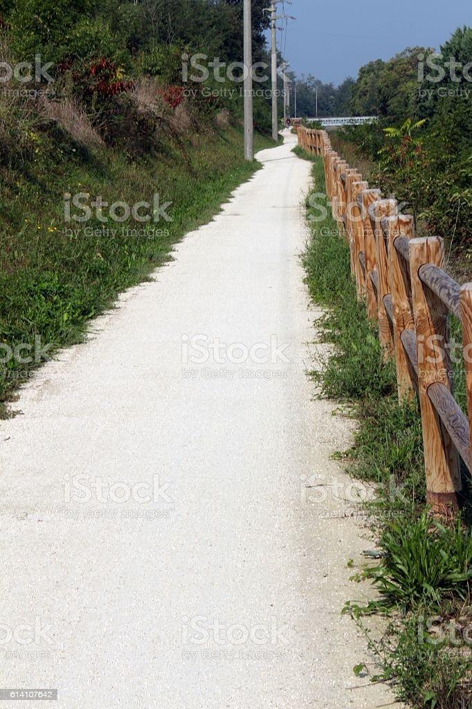 Bike road unpaved stock photo