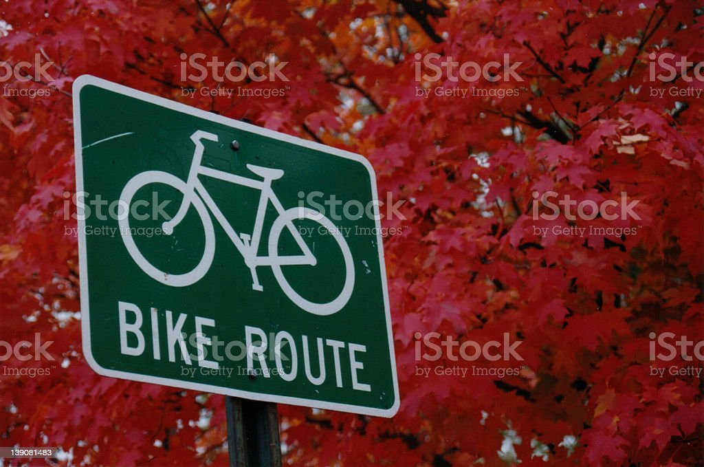 Bike Route royalty-free stock photo