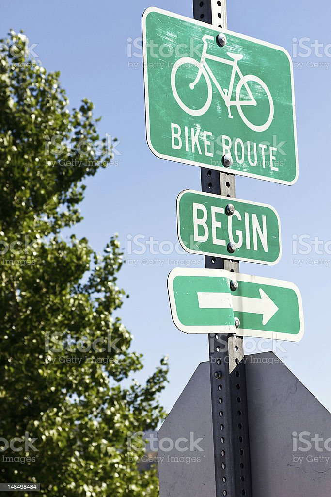 Bike Route stock photo