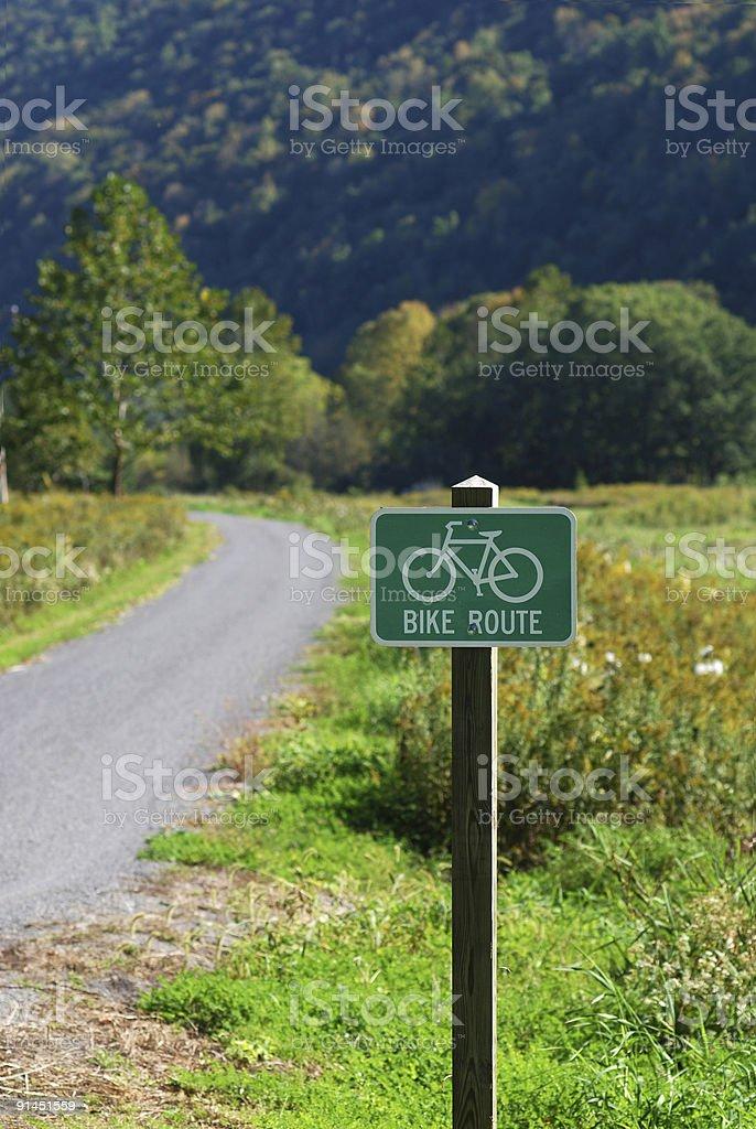 Bicicleta Placa de Rota foto royalty-free