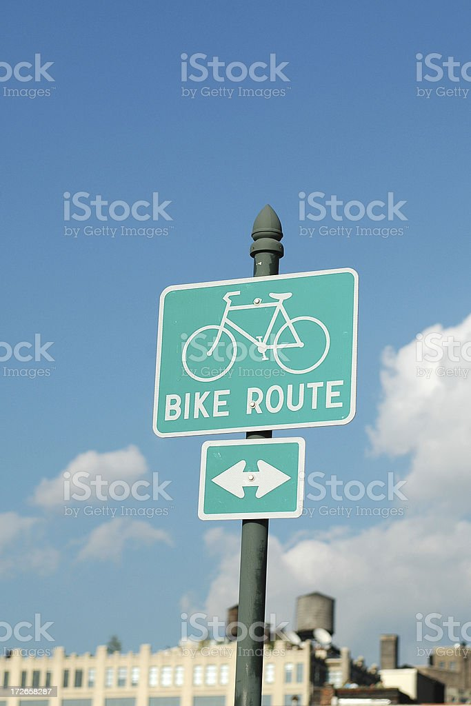Bike Route traffic sign. royalty-free stock photo