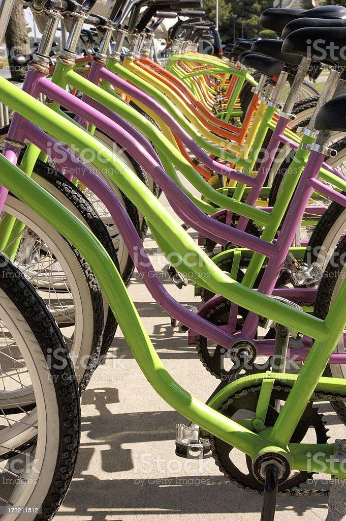 bike seats-frames side view royalty-free stock photo
