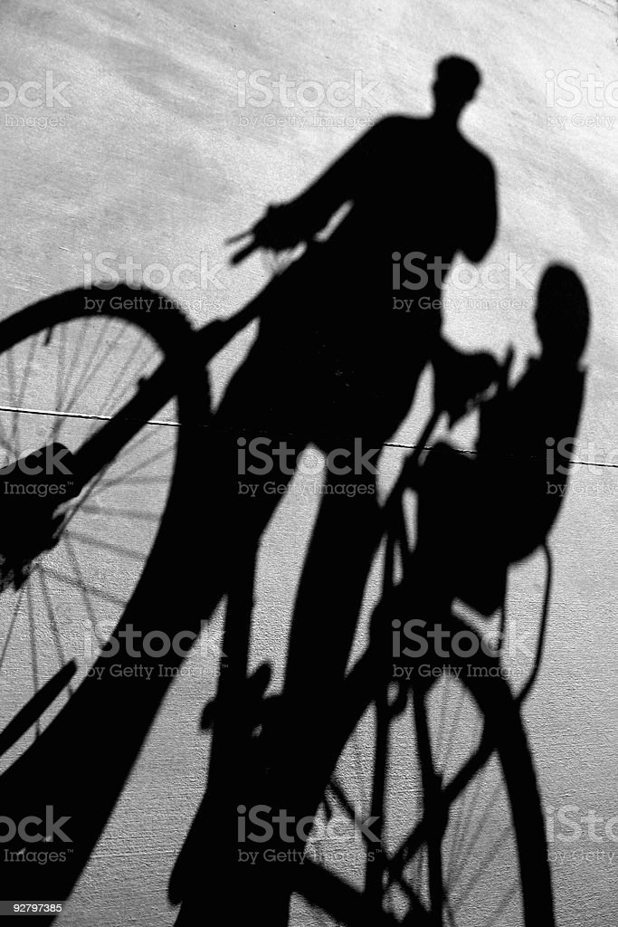 Bike Shadow royalty-free stock photo