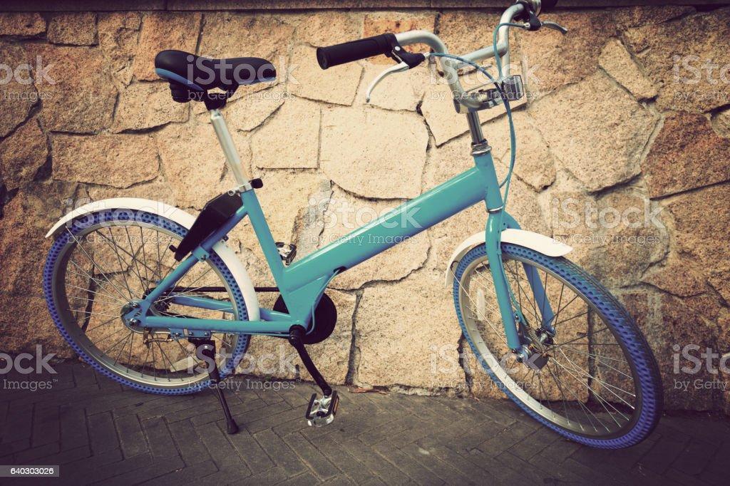 bike share in china stock photo