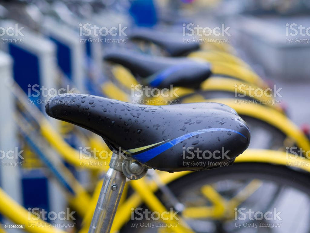 Bike sharing a Torino stock photo