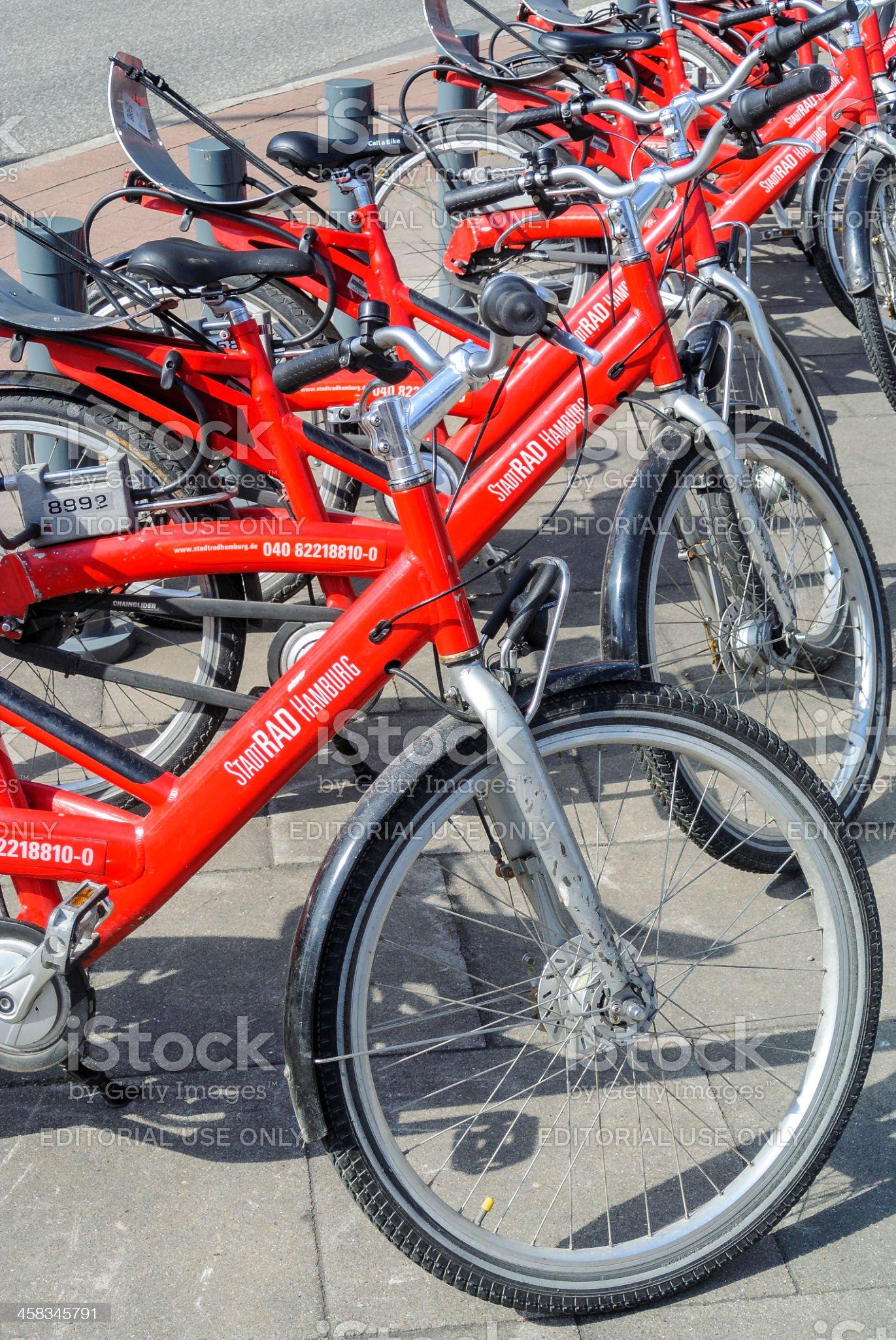 Bike sharing royalty-free stock photo