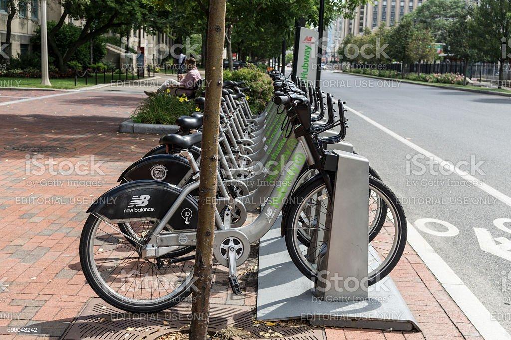 Bike sharing stock photo