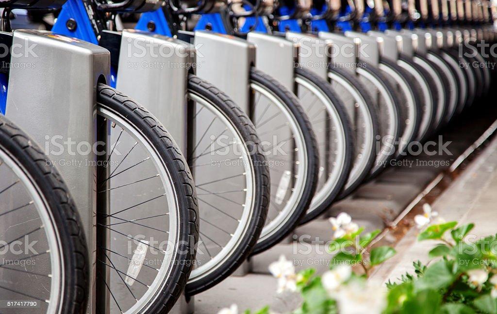 Bike Sharing System stock photo