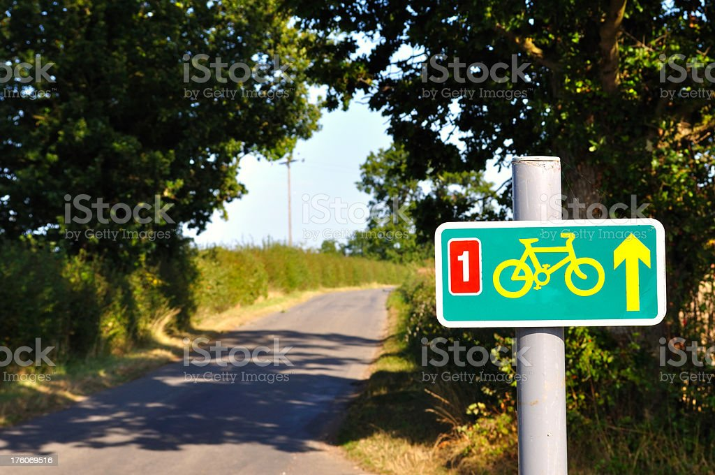 Bike sign. stock photo