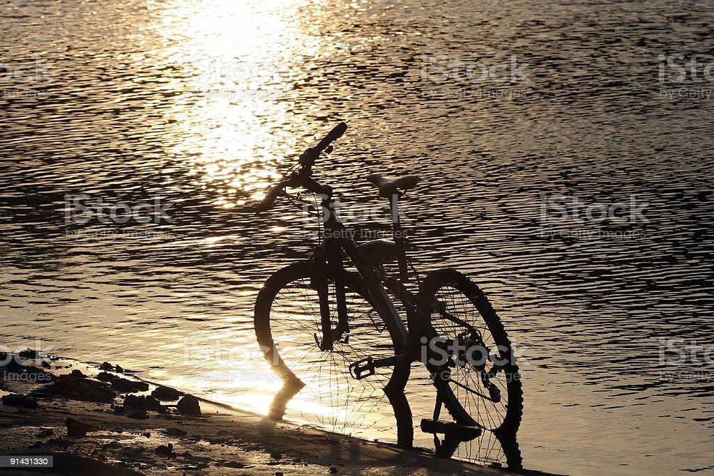 Bike silhouette royalty-free stock photo