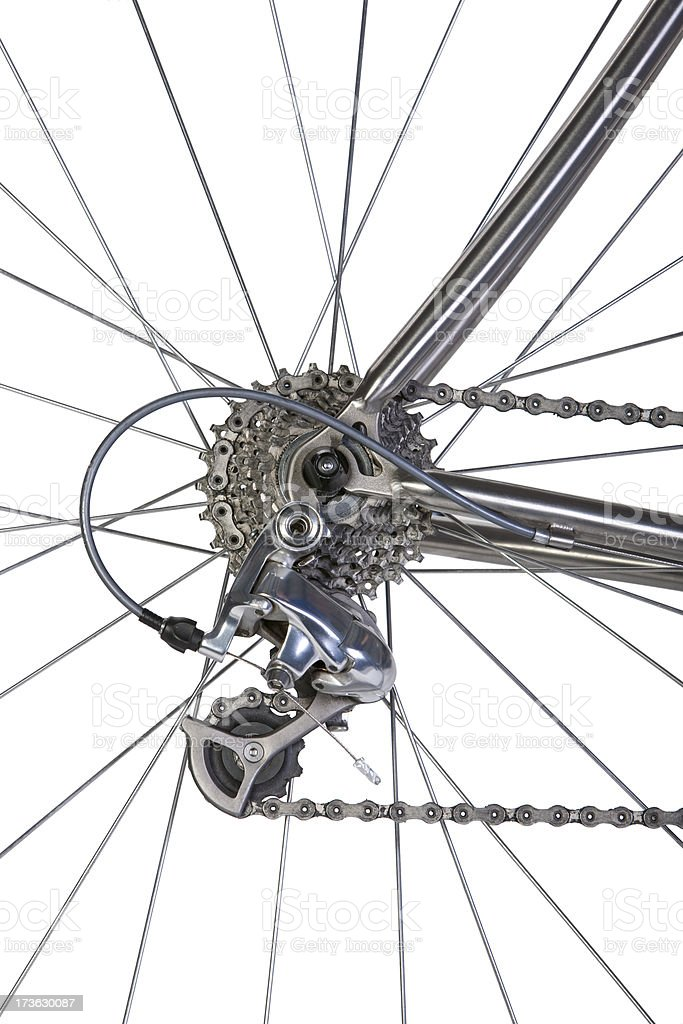 Bike Spokes & Cassette royalty-free stock photo