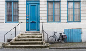 Bike standing in front of the house, Bruges