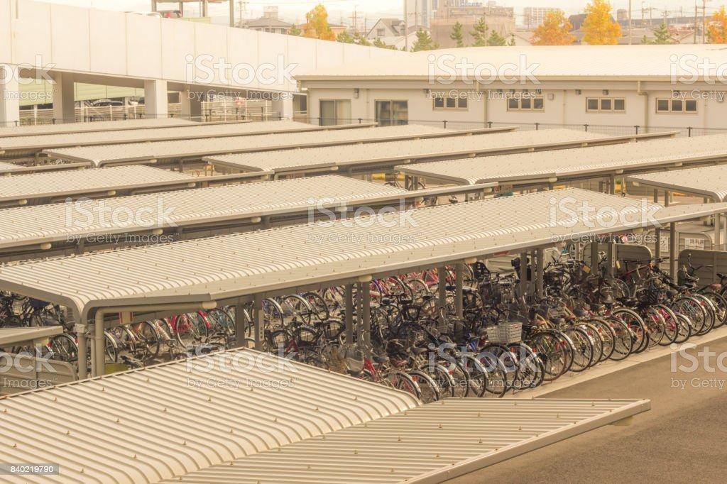Bike station stock photo