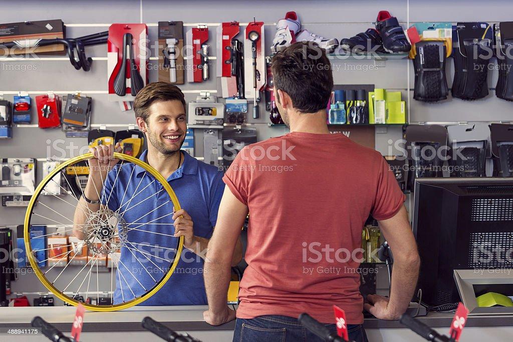 Bike store stock photo