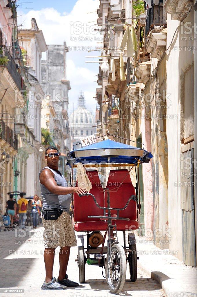 Bike Taxi in Havana stock photo