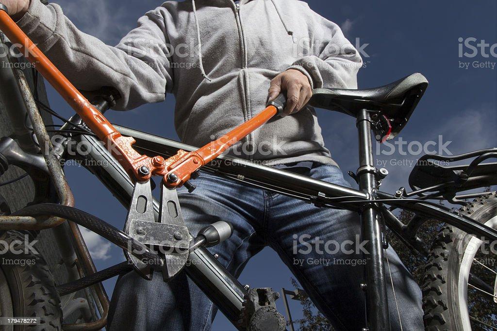 Bike Theft stock photo