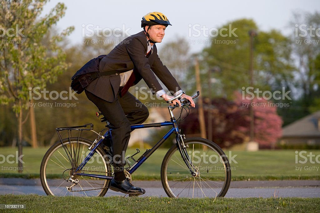Bike to work royalty-free stock photo