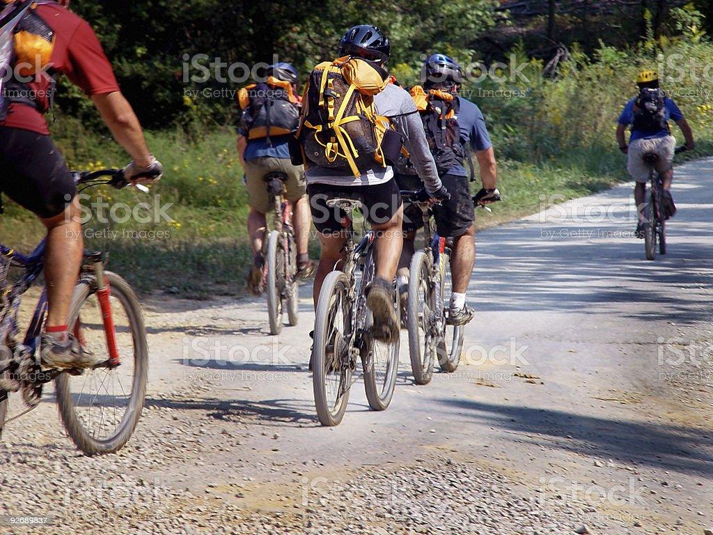 Bike Touring stock photo