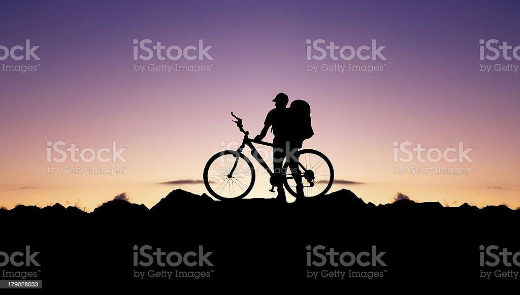 Bike tourist royalty-free stock photo