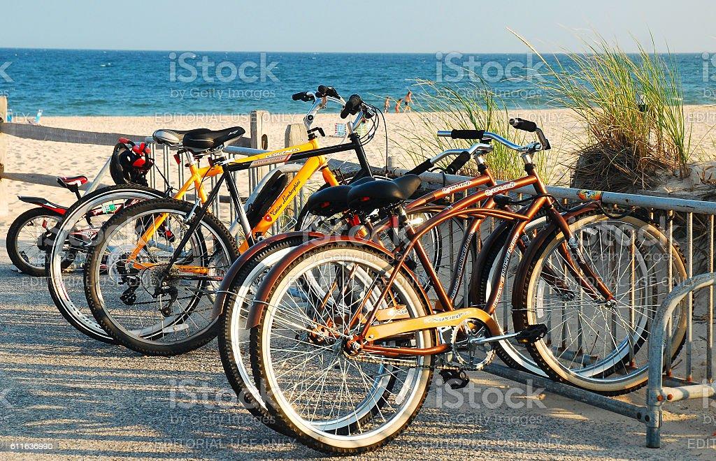 Bike Transportation, The Hamprtons stock photo