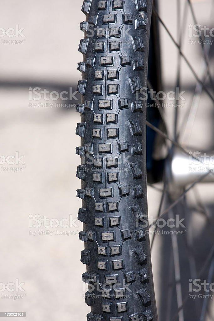 bike tread, tire track stock photo