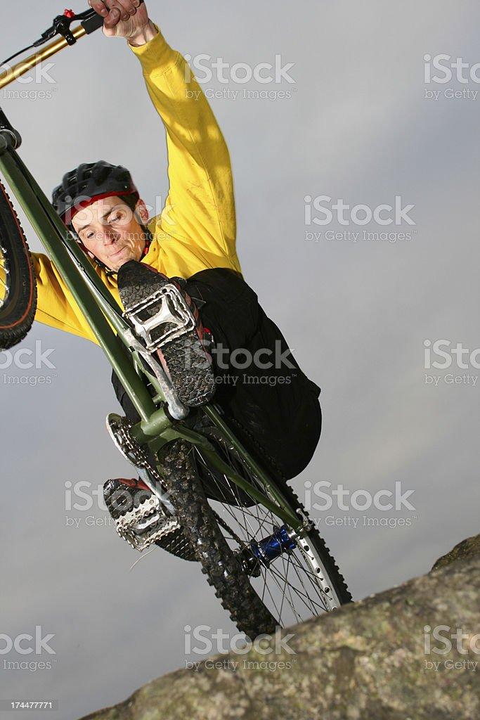 Bike trials stock photo