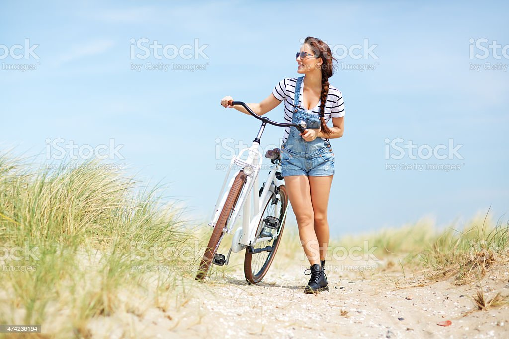bike vacation stock photo