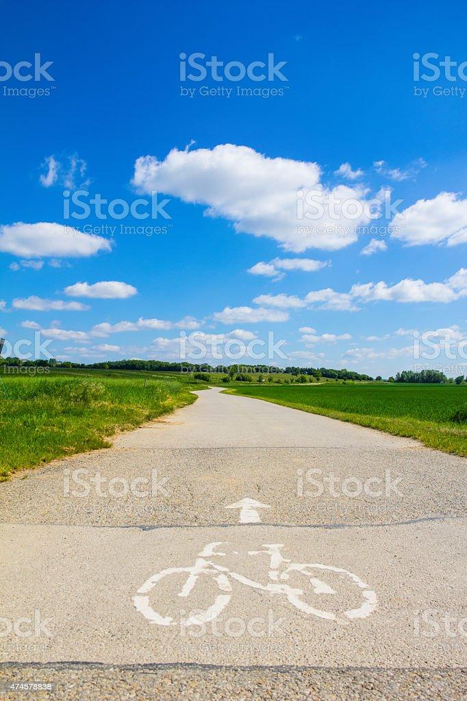 Bike Way Lake Neusiedl stock photo