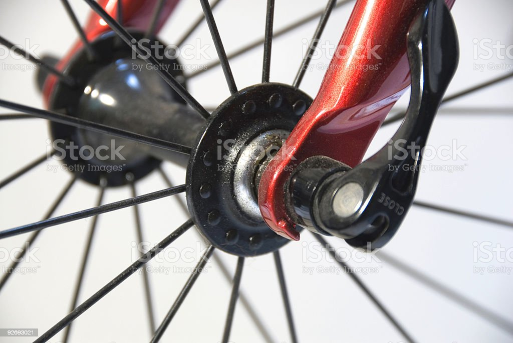 Bike Wheel Closeup royalty-free stock photo