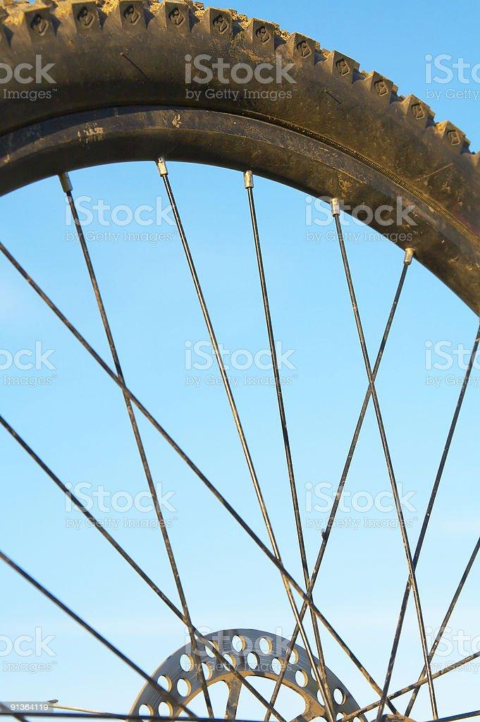 bike wheel stock photo