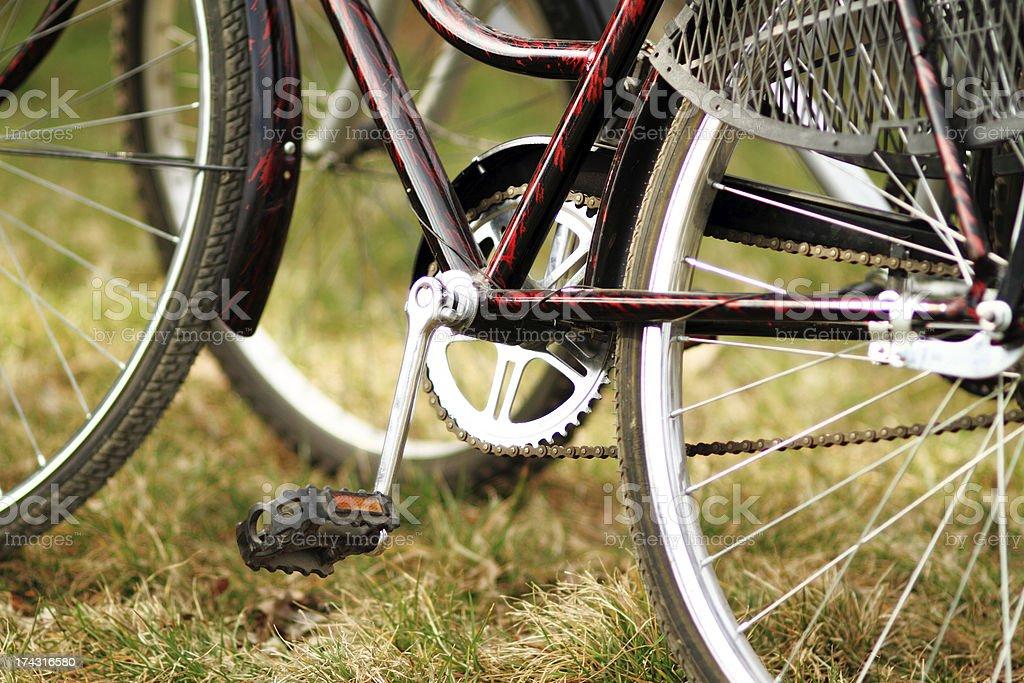 Bike wheel with brake royalty-free stock photo