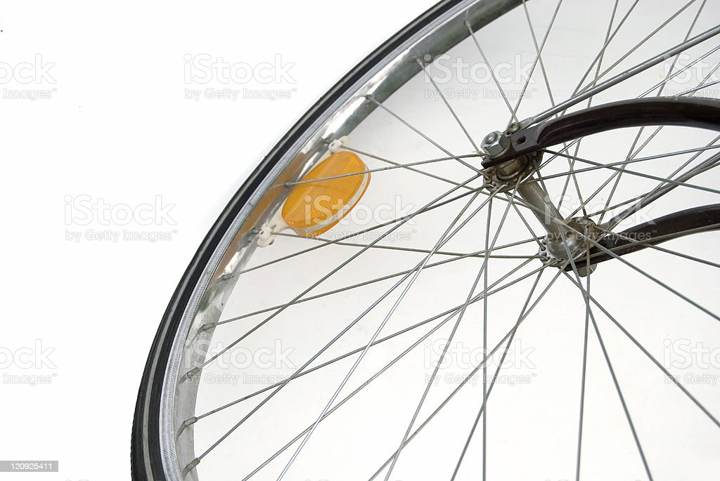 Bike Wheel With Copy royalty-free stock photo