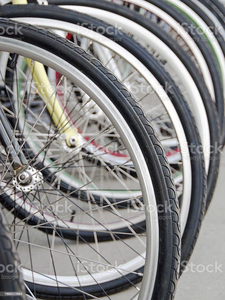 Bike Wheels royalty-free stock photo