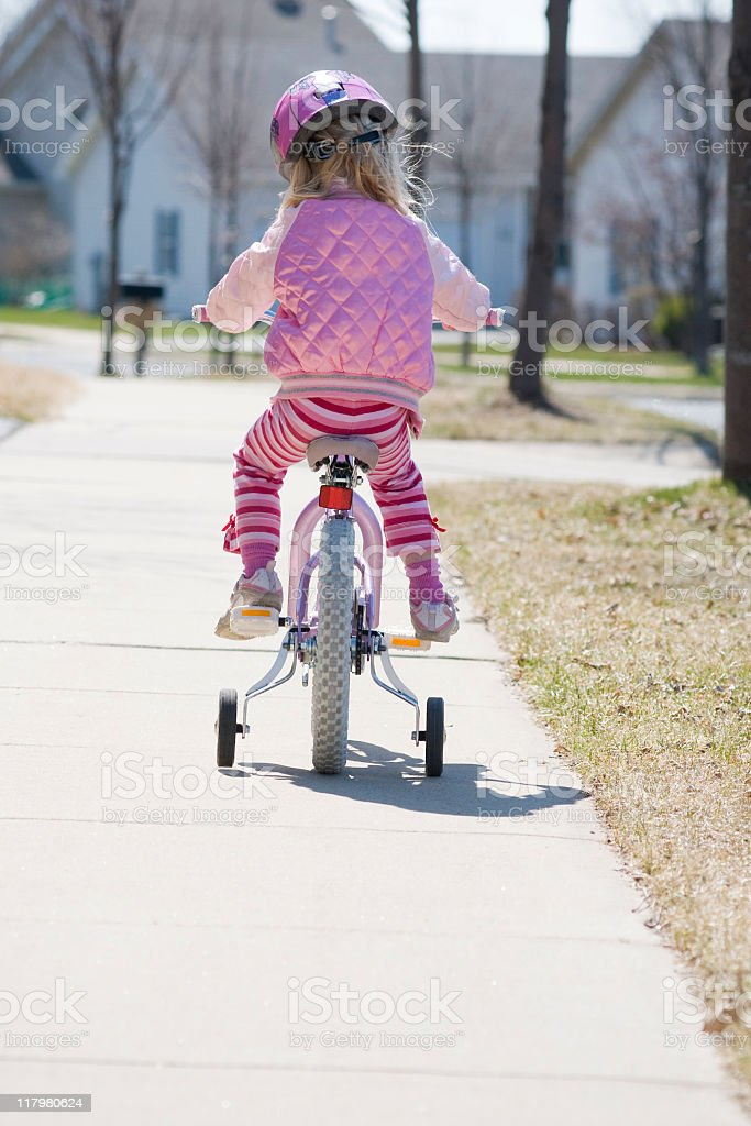Bike with training wheels royalty-free stock photo