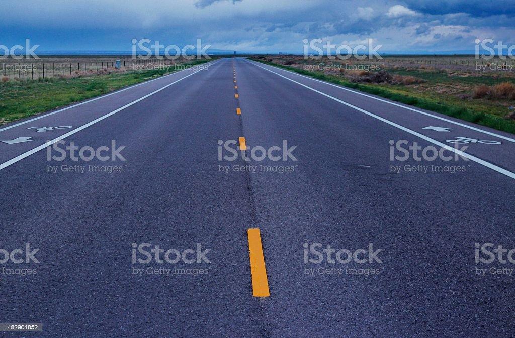 Bike-Friendly Rural Road stock photo