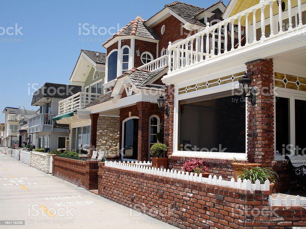 Bikepath Beautiful Homes stock photo