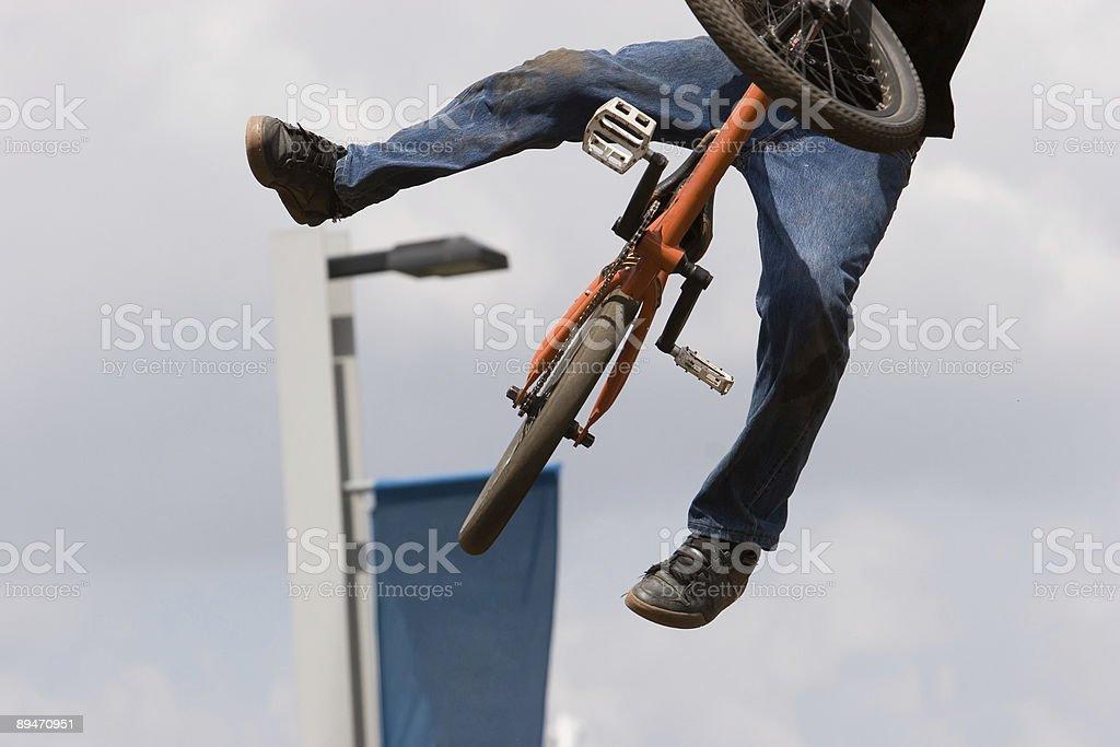 BMX biker Airborne royalty-free stock photo
